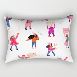 Marching Together Rectangular Pillow