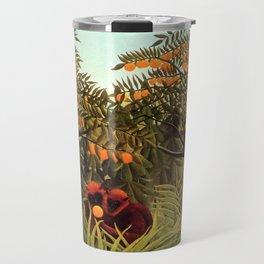 "Henri Rousseau ""Apes in the Orange Grove"" Travel Mug"
