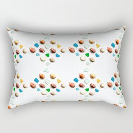 Sea Glass and Sea Shells Rectangular Pillow
