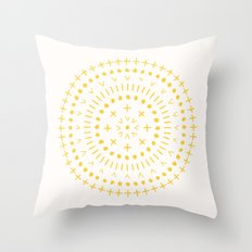 Radial - in Gold Throw Pillow