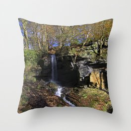 Waterfall at Lumsdale Throw Pillow