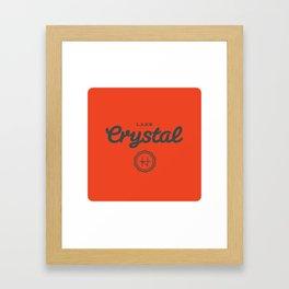 Lake Crystal Framed Art Print