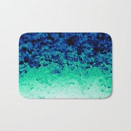 Midnight Teal Ombre Crystals Bath Mat