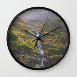 Bird Woman Falls Wall Clock
