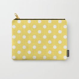 Sunshine Yellow Polka Dots Palm Beach Preppy Carry-All Pouch