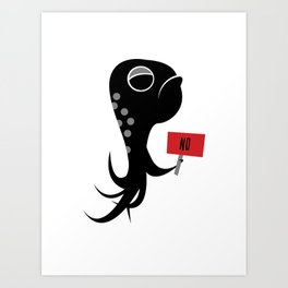 Squid of No Art Print