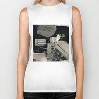 architect Biker Tanks featuring Behind the architect III by Paul Prinzip
