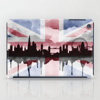 british flag iPad Cases featuring Great British Flag London Skyline 2 by Paint the Moment