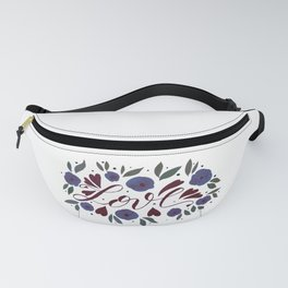 Love and flowers - garnet and purple Fanny Pack