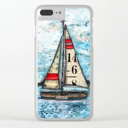 Discovery Sail Boat Clear iPhone Case