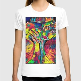4281s-RES Abstract Pop Color Erotica Pleasuring Psychedelic Yoni Self Love T-shirt