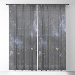 Deep Space - High Detail Real Image  Sheer Curtain