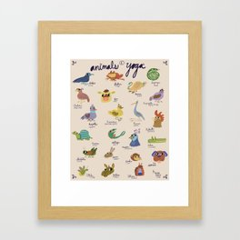 ANIMALS OF YOGA  Framed Art Print