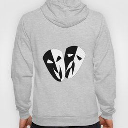 Black and White Stage Masks Hoody
