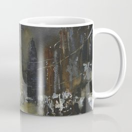 Painting of street in historic center of Amsterdam, Netherlands. Coffee Mug