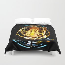 Industrial Filament Light Duvet Cover