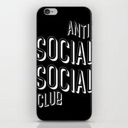 Anti Social Social Club iPhone Skin