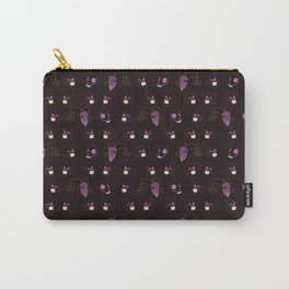 Purple Halloween Skull Pattern Vector Carry-All Pouch