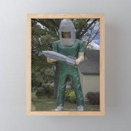Gemini Giant Framed Mini Art Print