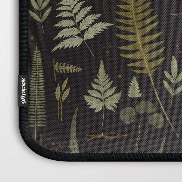 Fern pattern black Laptop Sleeve