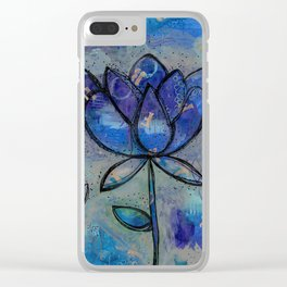 Abstract - Lotus flower - Intuitive Clear iPhone Case