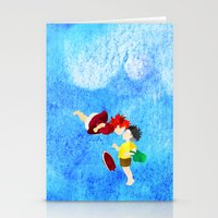 ponyo Stationery Cards featuring Ponyo and Sosuke by foreverwars