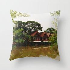 Bamboo Curtain Throw Pillow
