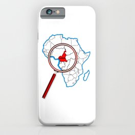 Cameroon Under A Magnifying Glass iPhone Case