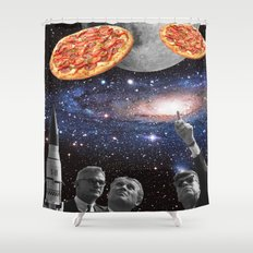 they are coming (pizza) Shower Curtain