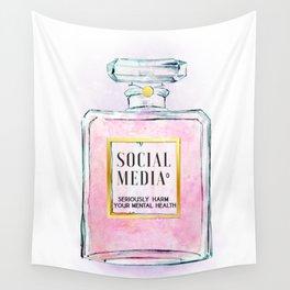 Eau de Social Media Seriously Harm Your Mental Health Wall Tapestry