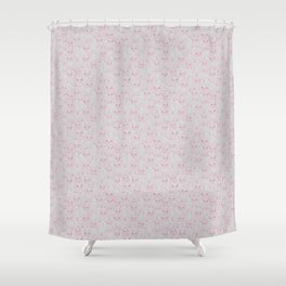 Hand Drawn Cute Frenchies Collage Shower Curtain