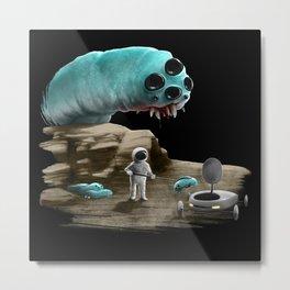 Space worm Metal Print