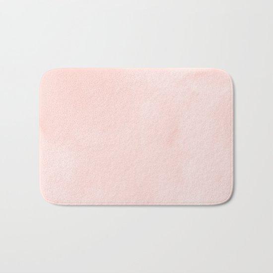 Seashell Pink Watercolor Bath Mat