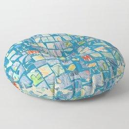 Mosaic Doodle Floor Pillow