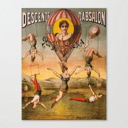 Vintage poster - Descente D'absalon Canvas Print