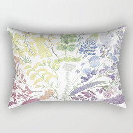 Rainbow Floral Rectangular Pillow