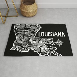 Louisiana Map Rug