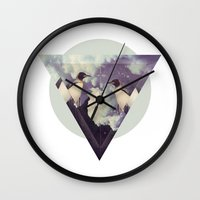 penguins Wall Clocks featuring penguins by oyamet