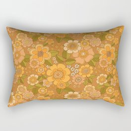 Flower power soft Apricot Rectangular Pillow