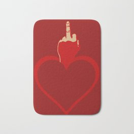 Heart Series Love The Finger Bath Mat