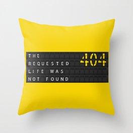 Error404 Throw Pillow