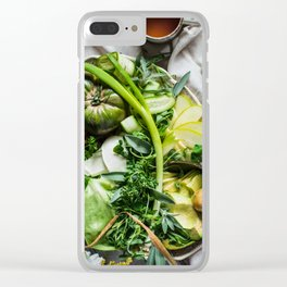 Green Goddess Clear iPhone Case