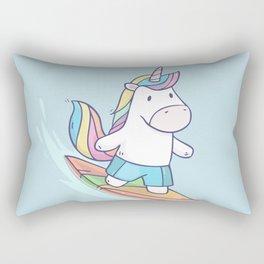 Unicorn Surfer Rectangular Pillow