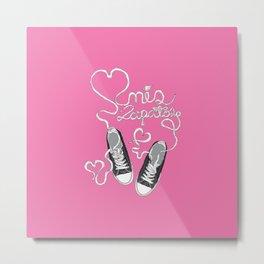 Amo mis Zapatos Metal Print