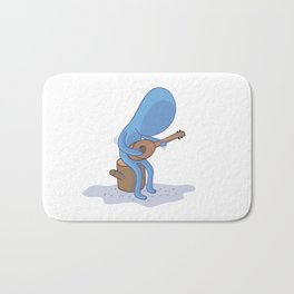 Ukulele Blues Bath Mat