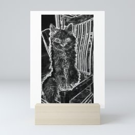 Old Gal - Selkirk Rex Cat Mini Art Print
