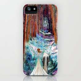 Fairy and Unicorn, Fantasy Forest iPhone Case