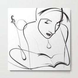 Sketch Wall Art Metal Print