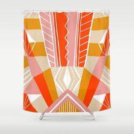 salida, woven rug pattern Shower Curtain