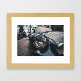Close Up Of Car Headlight Framed Art Print
